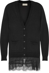 Clu Lace Trimmed Wool And Cashmere Blend Cardigan