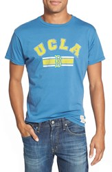 Retro Brand 'Ucla' Graphic Crewneck T Shirt Blue