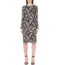 Paul Smith Rowan Printed Stretch Jersey Shift Dress Black