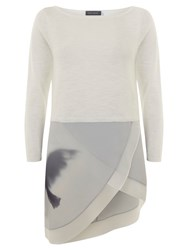 Mint Velvet Macie Wrap Layer Knitted Top Ivory
