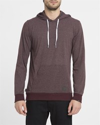 Forvert Red Basic Fu Micro Stripe Hoody