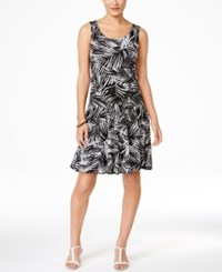 Styleandco. Style And Co. Petite Printed Sleeveless A Line Dress Only At Macy's Fancy Palm
