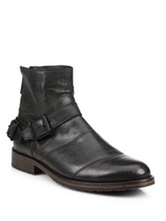 Belstaff Trailmaster Double Buckle Leather Boots Black
