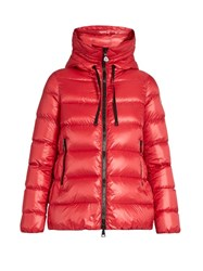 Moncler Serinde Hooded Quilted Down Jacket Red