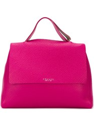 Orciani Flap Closure Tote Bag Pink And Purple
