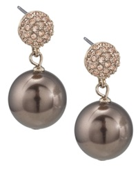 Carolee Earrings Large Glass Pearl Double Drop Earrings