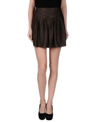 Edun Mini Skirts Dark Green