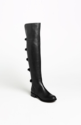 Valentino Bow Over The Knee Boot Black Leather