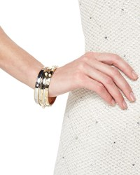 Golden Bangle With Pearly Studs St. John Collection Lrcp