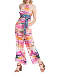 Plenty By Tracy Reese Printed Flare Leg Jumpsuit Pink