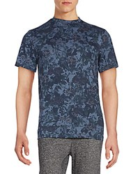 Sovereign Code Tonal Floral Print Tee Navy