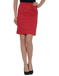 Drykorn Knee Length Skirts Brick Red