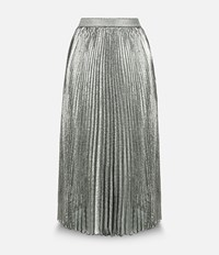 Christopher Kane Lame Pleated Skirt Grey