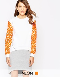 Finders Keepers For You Jumper Whiteleopardprint
