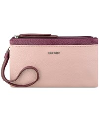 Nine West Table Treasures Wristlet New Mauve Crimson