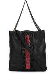 Laura B 'La Vie En Rouge' Shoulder Bag Black