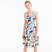 J.Crew Tall A Line Dress In Morning Floral