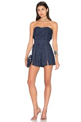 Alexis Martyna Romper Blue