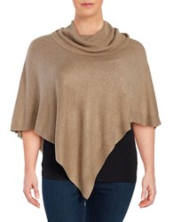 Context Plus Cowlneck Knit Poncho Apple Cinnamon