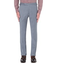 Richard James Slim Fit Tapered Wool Trousers Pale Blue