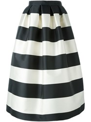 Rochas Striped Skirt Nude And Neutrals