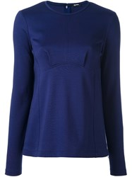 Jil Sander Navy Paneled Jumper Blue