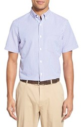 Men's Nordstrom Men's Shop Smartcare Trim Fit Wrinkle Free Gingham Oxford Sport Shirt Pink Lavender Micro Gingham