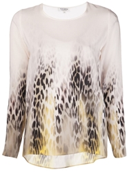 Roseanna 'Wild Chase' Leopard Blouse Nude And Neutrals