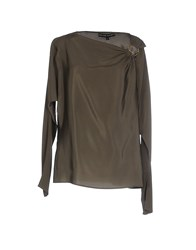 Ralph Lauren Black Label Shirts Blouses Women Military Green