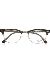 Ray Ban Havana Clubmaster Acetate Optical Glasses