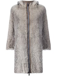 Brunello Cucinelli Three Quarters Zipped Coat Nude And Neutrals