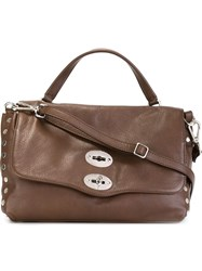 Zanellato Flap Closure Tote Bag Brown
