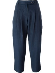 Ymc High Waisted Trousers Blue