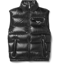 Prada Quilted Ripstop Down Gilet Black