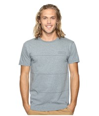 O'neill Striped Short Sleeve Screens Impression T Shirt Medium Heather Grey Men's T Shirt Gray