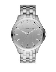 Armani Exchange Diamond Accented Stainless Steel Bracelet Watch Ax2170 Silver