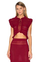 For Love And Lemons Rivington Crop Top Red