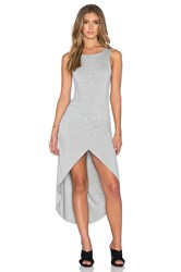 Bishop Young Haley Hi Low Maxi Dress Gray