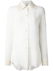 Marc Jacobs Embroidered Collar Shirt Nude And Neutrals