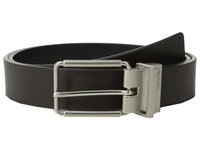 Calvin Klein 32Mm Reversible Flat Strap Saffiano Leather To Smooth Brown Black Men's Belts