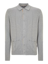 Peter Werth Mission Knitted Cardigan Silver Marl