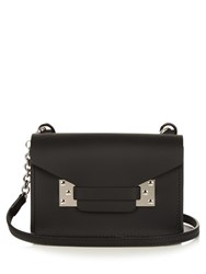 Sophie Hulme Milner Nano Envelope Leather Cross Body Bag Black Silver