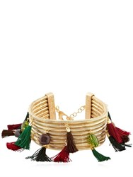 Rosantica Frivola Choker With Tassels And Stones