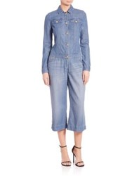 Michael Michael Kors Wide Leg Denim Jumpsuit Verushka Wash