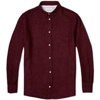 Norse Projects Aaron Worsted Gauze Shirt Bitter Chocolate
