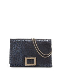 Prismick Soft Geo Print Envelope Clutch Bag Navy Roger Vivier Navy Gold