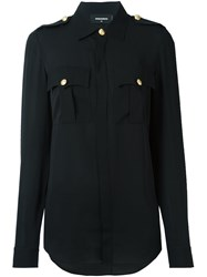 Dsquared2 'Sergeant' Blouse Black