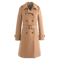 J.Crew Petite Icon Trench In Wool Cashmere Hthr Acorn