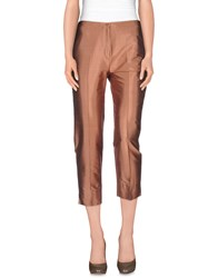Incotex Trousers 3 4 Length Trousers Women Brown