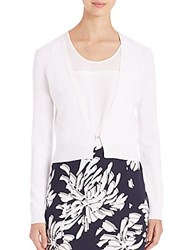Boss Fausa Short Cardigan White